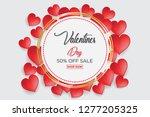 valentine's day concept  heart... | Shutterstock .eps vector #1277205325