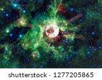 spacecraft launch into space.... | Shutterstock . vector #1277205865