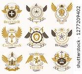 collection of vector heraldic... | Shutterstock .eps vector #1277209402