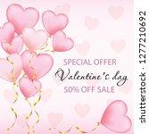 valentine romantic greeting...   Shutterstock .eps vector #1277210692