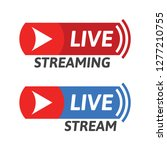 cool live stream icon....   Shutterstock .eps vector #1277210755