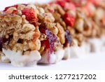 muesli and granola bar with... | Shutterstock . vector #1277217202