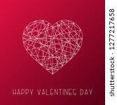 happy valentines day card.... | Shutterstock .eps vector #1277217658