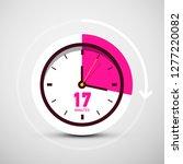 17 seventeen minutes symbol on... | Shutterstock .eps vector #1277220082