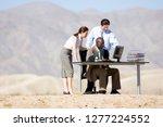 businessmen and businesswoman... | Shutterstock . vector #1277224552