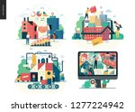 business series set  color 1 ... | Shutterstock .eps vector #1277224942