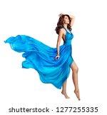 woman blue dress  beauty... | Shutterstock . vector #1277255335