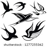 swallow logo. isolated swallow... | Shutterstock .eps vector #1277255362