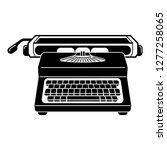 typewriter icon. simple... | Shutterstock .eps vector #1277258065