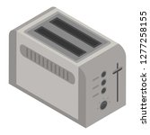 toaster icon. isometric of... | Shutterstock .eps vector #1277258155