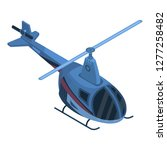two passenger helicopter icon.... | Shutterstock .eps vector #1277258482