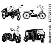 tricycle icon set. simple set... | Shutterstock .eps vector #1277258965