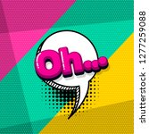 oh comic text sound effects pop ... | Shutterstock .eps vector #1277259088