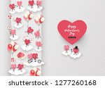 happy valentines day festive... | Shutterstock .eps vector #1277260168