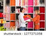 couple shopping for homeware... | Shutterstock . vector #1277271358