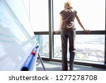 businesswoman looking out of... | Shutterstock . vector #1277278708