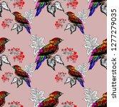 watercolor seamless pattern... | Shutterstock . vector #1277279035