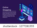 the concept of online store ... | Shutterstock .eps vector #1277281555