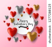 valentine s day sale black...   Shutterstock .eps vector #1277288125