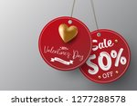valentine s day sale red paper...   Shutterstock .eps vector #1277288578