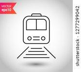 train icon. subway line icon.... | Shutterstock .eps vector #1277299042