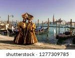 venice doble masks on san marco ...   Shutterstock . vector #1277309785