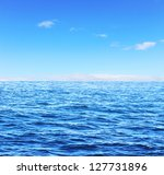 blue sunny sea and soft sky | Shutterstock . vector #127731896