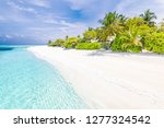 amazing beach in maldives... | Shutterstock . vector #1277324542