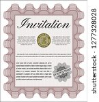 red invitation template. with... | Shutterstock .eps vector #1277328028