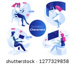 people work and interacting... | Shutterstock .eps vector #1277329858