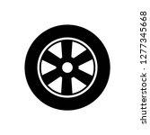 car wheel   tire icon vector | Shutterstock .eps vector #1277345668