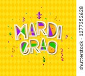 mardi gras carnival background... | Shutterstock .eps vector #1277352628