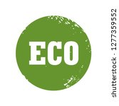 green and grunge stamp. ecology ... | Shutterstock .eps vector #1277359552
