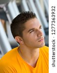 active young man by treadmills... | Shutterstock . vector #1277363932