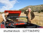 father and adult son breakdown... | Shutterstock . vector #1277365492