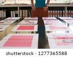 businesswoman choosing between... | Shutterstock . vector #1277365588