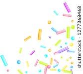 sprinkles grainy. sweet... | Shutterstock .eps vector #1277368468