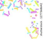 sprinkles grainy. sweet... | Shutterstock .eps vector #1277368642