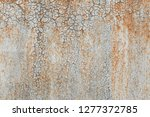 old metal rusted wall covered... | Shutterstock . vector #1277372785