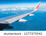 beautiful view from airplane... | Shutterstock . vector #1277375542