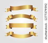 set of golden ribbons vector.   Shutterstock .eps vector #1277379592
