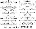 set of dividers  ornamental... | Shutterstock .eps vector #127739192