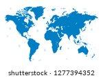 world map vector | Shutterstock .eps vector #1277394352