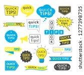 advice  quick tips  helpful... | Shutterstock .eps vector #1277398735