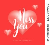 happy valentines day card. love ...   Shutterstock .eps vector #1277399932