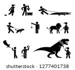set of pictograms presenting... | Shutterstock .eps vector #1277401738