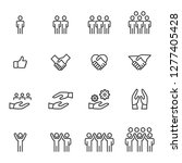 people icons line work group... | Shutterstock .eps vector #1277405428