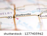 Shelbyville. Missouri. USA on a geography map
