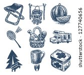 sketch doodle icon collection ...   Shutterstock . vector #127740656