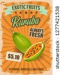 kuruba exotic fruit or tropical ... | Shutterstock .eps vector #1277421538